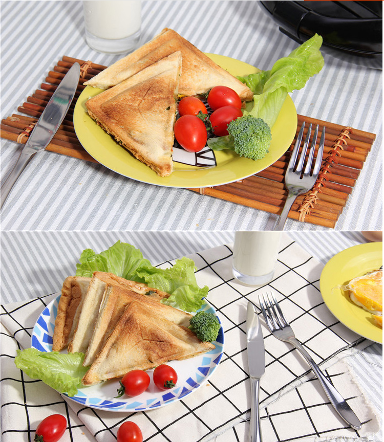big size thick plate 2 Slice breakfast maker Portable Electric Sandwich Maker 700-800W
