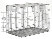 "Metal Wire Dog cage Aluminum Folding Dog Cage Galvanized Metal Dog Cage 19"" 24"" 30"" 36"" 42"" 48"""