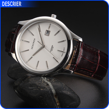 3 atm Stainless Steel Back Genuine Leather Quartz Watch Brand Chinese