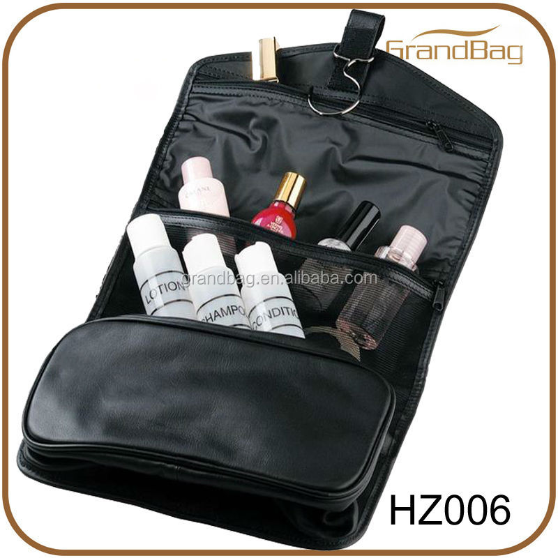 New design hanging leather toiletry bags