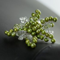 WSF0020 Fashion Brand Silver Crystal and Pearl Sparkle Flower Brooch For Invitation Bridal Absolutely Beautiful