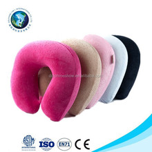 Customized fashion high soft U shape travel memory foam neck pillow