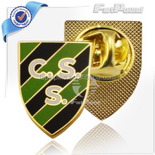 2015 hot selling CSS Enamel Gold Lapel Pins