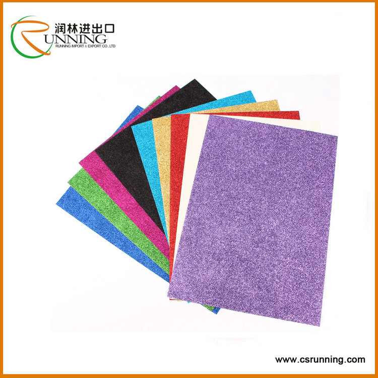 High Quality of invitation card glitter cardstock paper craft paper