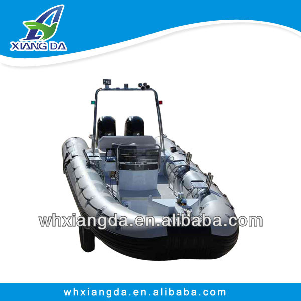 luxurious aluminum rigid inflatable yatch