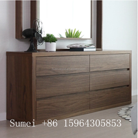 HX-SM20160603 North European furniture,6 drawers storage cabinet,walnut chest of drawer