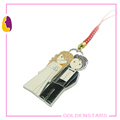 Couple men and woman cell phone pendant metal bag charm key chain charm