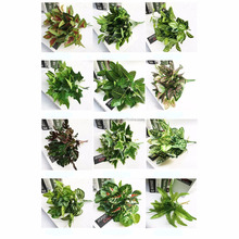 Artificial green wall hanging decorative green leaves artificial plants