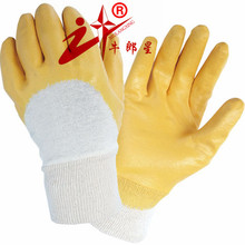 cotton chore yellow nitrile glove
