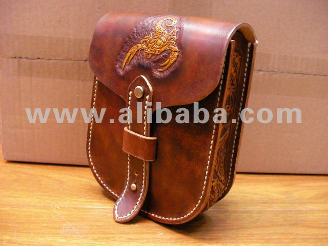 Handmade Leather Waist Bag for Digital Camera