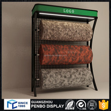 Good prices metal carpet rolling sample display rack for sale