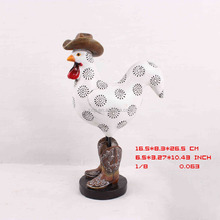 2017 Spring New Farm Item Resin Crafts Cowboy Chicken Polyresin Gifts ZX00049