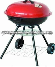China supplier red stone grill charcoal barbecue grill