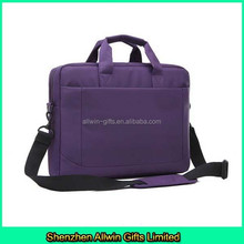 Purple waterproof laptop bag nylon laptop bag with shoulder strap