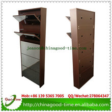 white/black/brown color 5 drawers shoe cabinet with mirror