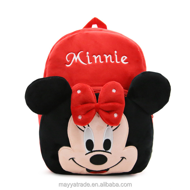 Minnie Mickey Mouse and Friends Lovely Cartoon Backpack Gift for Child Toddler's School Bag
