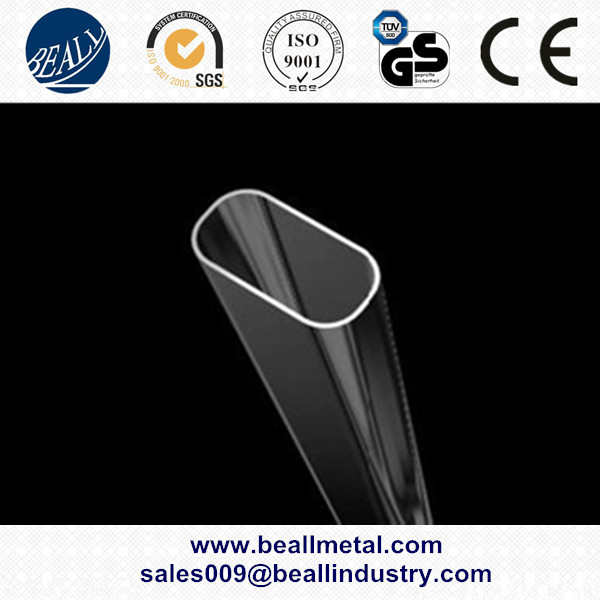 Competitive price stainless steel oval exhaust pipe manufacturer!!!