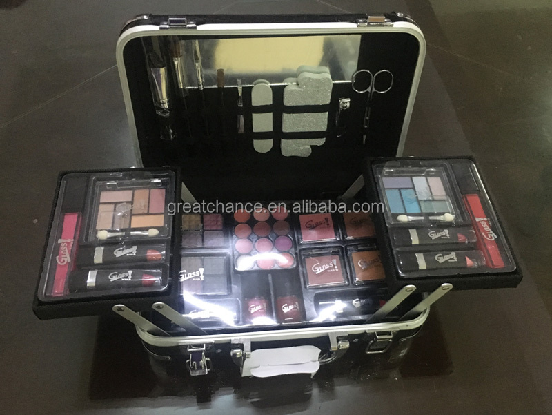 Aluminum cosmetic case-aluminum beauty case- aluminum makeup box