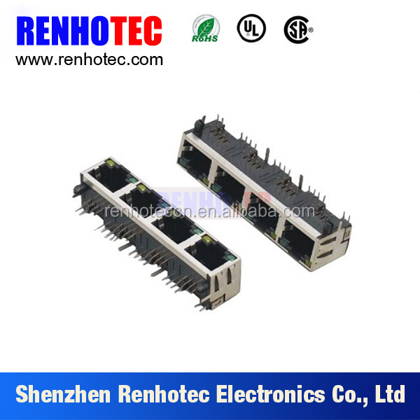 China Manufacturer Sheilded RJ11 RJ45 Connectors 8P8C Modular Jack