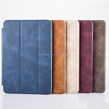 PU leather case for ipad air 2, stand flip case for ipad, ultra slim case cover for ipad
