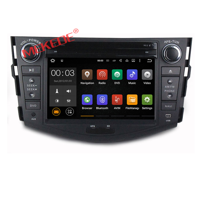 Quad Core 2-Din Android 7.1 Car DVD player audio radio for RAV4 2006 2007 2008 2009 2010 2011 2012 with 4G WIFI BT CAR DVD GPS