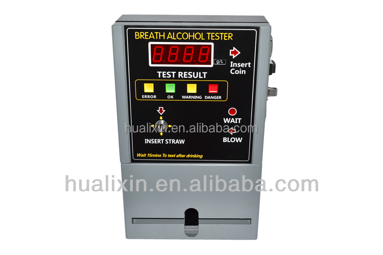 Professional Coin Alcohol Tester AT-819 for breath alcohol tester vending machine in public use