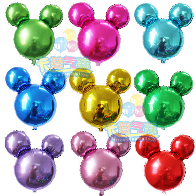 New mickey aluminum foil balloons birthday minnie mickey party baby Hundred Days Minnie Mickey Mouse head balloons toys