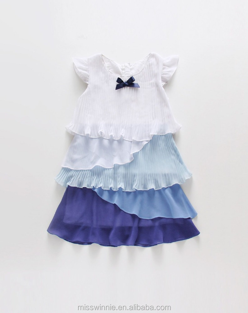 MW-CF-1707 Latest Custom baby dress new style special and creative design kids chiffon frocks design