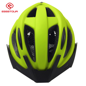 Adult ample ventilation in-mould downhill bicycling helmet with safety led light 186
