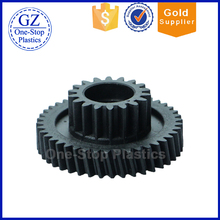 Customized wear-resisting performance good plastic double spur gear