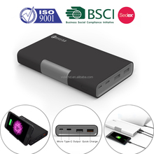 20000mAh Power Bank QC 3.0 Quick Charger Dual Output Type-C Micro USB Input External Portable Charger for Macbook, Galaxy,iphone