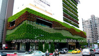 SJH101345 plastic green wall artificial green wall outdoor plastic wall covering