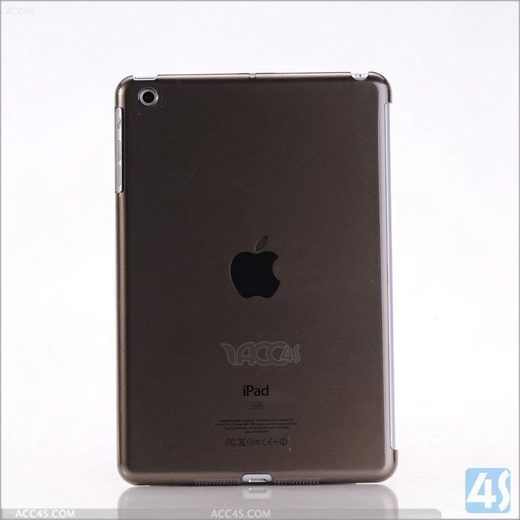 transparent back hard cover protective case for ipad mini 1 2 3