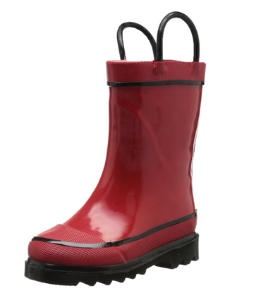 Wholesale Kids Fancy Popular Clear Half Rubber Rain Boot with Buckle