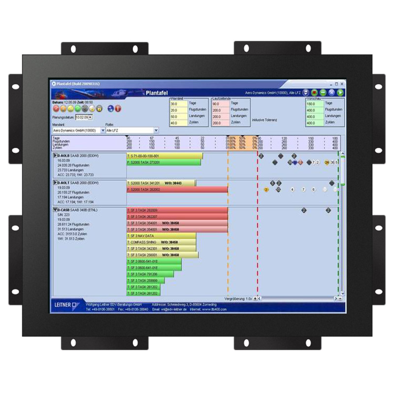 resistive / capacitive optional 15 inch cheap small touch screen open frame monitor