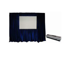Protable Fold Projection Screen,quick folding screen with flight case (front +rear projection screen fabric)
