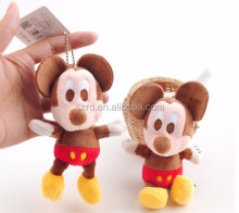 2017 Fashion lovely little mouse plush pendant mini animals plush key pendant with good price
