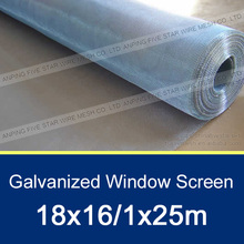 18x16 Galvanized Window Insect Net 1mx25m