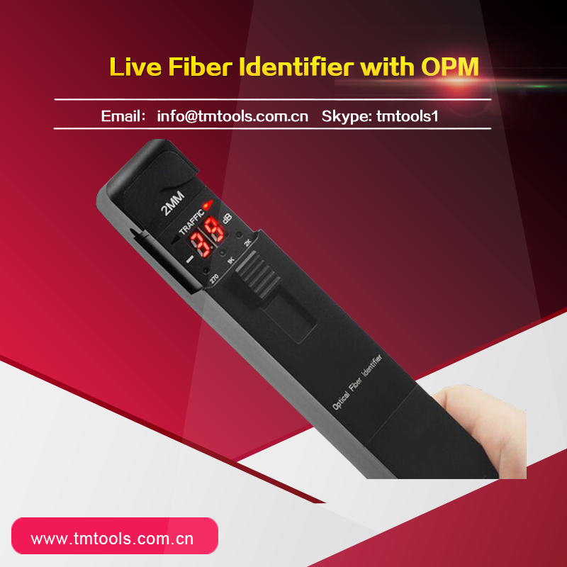 TM301 Black Optical Fiber Cable Identifier OFI Displays the relative core power