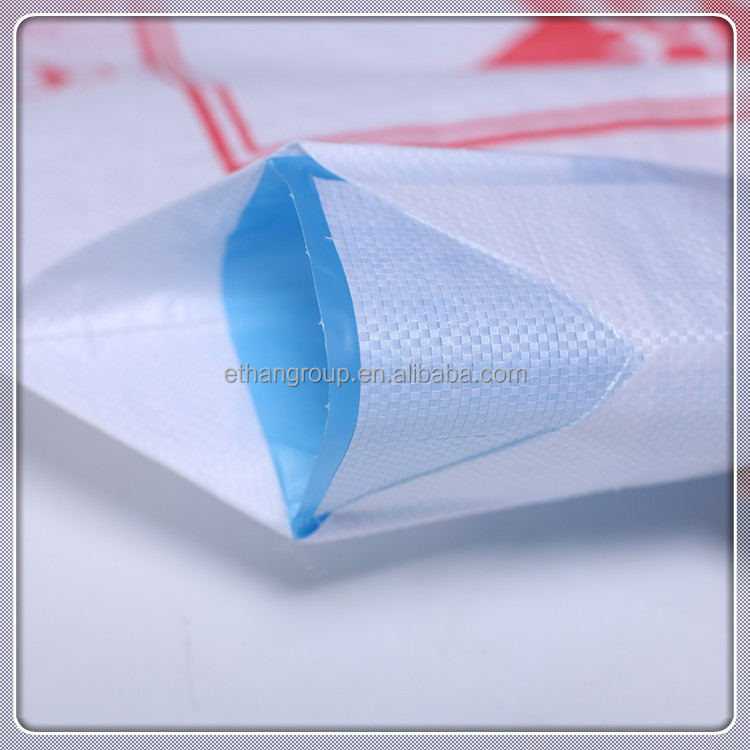 China supplier 100% polypropylene customized plastic packing bag 54*63cm white laminated putty powder valve pp woven sack