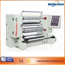Automatic High Precision BOPP/CPP/PE/PET/PVC plastic film roll slitting and rewinding machine