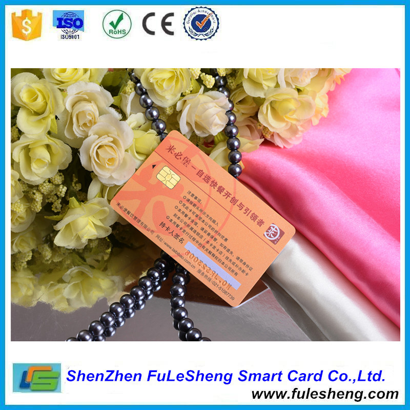 CMYK Full Color Printed PVC Contact Smart Chip Card 2014bit FM4428