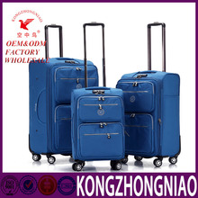 vintage classical printing unique travel suitcase with wheels trolley leather luggage for travel 2016 hot sale