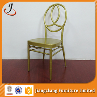 Metal Golden Painting Wedding Dining Phoenix Chair JC-P01