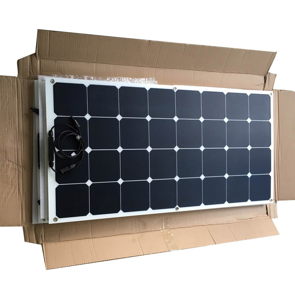 high quality bending 24v pv solar panel price 130w 135w sunpower solar panel without frame