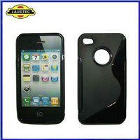 Laudtec New Arrival S Line Type Wave TPU Gel Cover Case for Apple IPhone 4 4s
