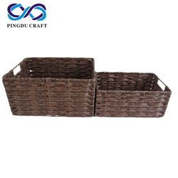 Pp Basket With Plastic Rope Tiny Pp Basket