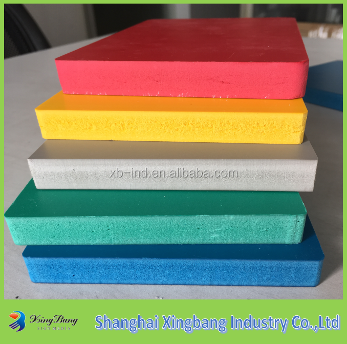 High glossy waterproof cheap price pvc foam board/sheet/sintra/forex 3mm