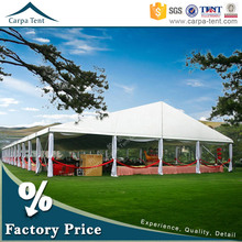 2015 Lastest designed beautiful garden large wedding party tent with decorations and curtains for sale