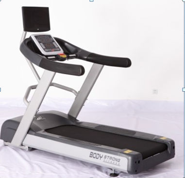 Body Strong Commercial Treadmill With TV outside
